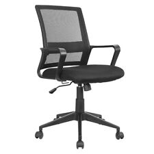 Mid Back Office Chair Mesh Home Counter Executive Computer Desk Task Seat Black