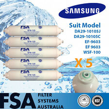 "5 Pack Fridge Water Filter DA29-10105J SAMSUNG EXTERNAL MODEL 1/4"" 6mm (6-12)"