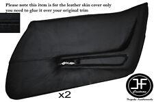Costura Negra Piel Tarjeta de puerta frontal 2X completo cubre se ajusta Corvette C3 1970-1976