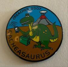2007 Creacher Cacheasaurus Geocoin