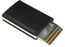 Kartenetui secrid RFID Cardprotector Slimwallet Leder Amazonas schwarz