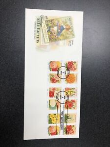 US FDC 4754-63 Vintage Seed Packets Booklet Of 12 First Day Of Issue On 1 Cover