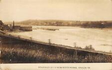 RPPC Penobscot River Near Water Works, Bangor, Maine c1910s Vintage Postcard