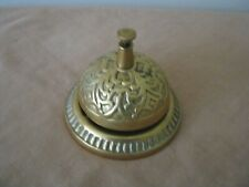 Vintage Solid BRASS Counter or Reception BELL. Metal.