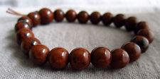 Buddha-Armband aus Mahagoni-Obsidian ca. 17 cm Armweite - Power-Beads.