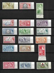 Bermuda, 1953 QEII pictorials complete set MNH marginals*. Superb (B077)
