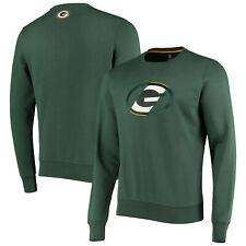 Green Bay Packers Split Graphic Crew Neck Sweater - Dark Green - Mens