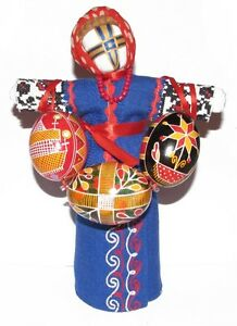 Easter Real Eggs Pusanka Hand painte Handmade + Hand Embroidered Doll Motanka