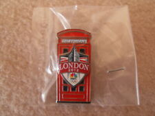 NBC TV Network London 2012 Big Ben / Red Telephone Box Promotional Pin Badge