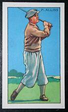 Professional Golf    Alliss      1930's Vintage Card  VGC
