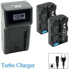 2x SK Akku für Sony NP-FM50 + Turbo Charger NP-FM70 NP-FM90 | 1065165-190112