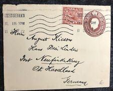 ALT ENGLAND echt gelaufener Beleg 1922 - Golders Green - Neufinkenkrug Havelland