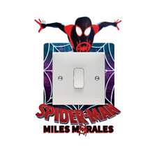 SPIDERMAN MILES MORALES LIGHT SWITCH SURROUND STICKER VINYL DECAL BOYS GIRLS
