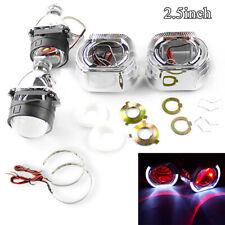 """2.5"""" RHD Car H4 H7 Retrofit Bi xenon HID Projector Lens&Shroud w/ Red Demon Eyes"""