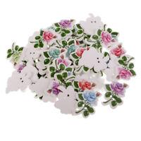 holes Wooden Buttons Craft DIY 4cmx3.6cm 50PCs Colours Cute Leaf Shaped 2