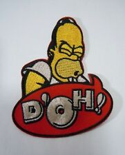 """HOMER SIMPSON- D'OH Embroidered Iron-On Patch - 3.5"""""""