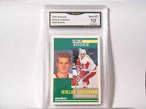 Niklas Lidstrom GRADED ROOKIE!! Gem Mint 10! 1991/92 Pinnacle #320 Redwings -2