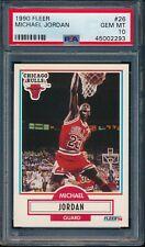 PSA 10 MICHAEL JORDAN 1990-91 FLEER #26 Chicago Bulls HOF GOAT RARE GEM MINT