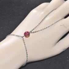 Chaîne de main bracelet bague acier inoxydable Tourmaline bijou