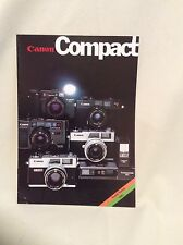 CANON COMPACT SALES BROCHURE 1982
