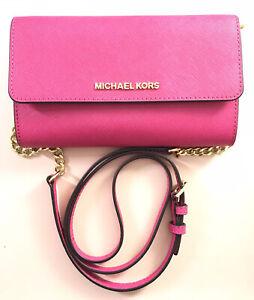 NWT Michael Kors Jet Set Travel Large Phone Crossbody Raspberry Pink