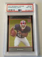 2007 Bowman Chrome Marshawn Lynch Rookie PSA 8 NM-MT