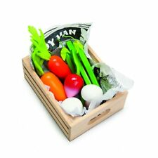 Le Toy Van Wooden Food in Market Crate - Harvest Vegetables