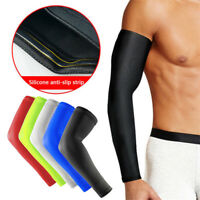 New Cooling Athletic Sport Skin Arm Sleeves Sun Protective UV Cover Golf Cycling