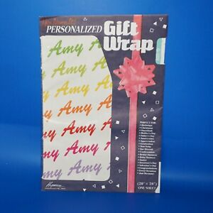 Gift Wrap Personalized You Name It Choose Name 1 Sheet NOS Wrapping Paper 20x28