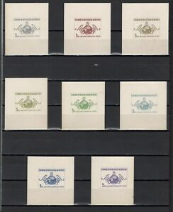 ++ 1949 Fair in Prague 5 Nominal in Different Colour Thick Paper