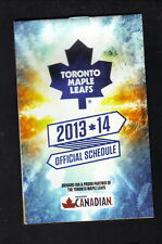 Toronto Maple Leafs--2013-14 Pocket Schedule--Molson Canadian