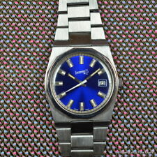 EBERHARD EPOCA BLUE Ref. 25758/316 36MM INTEGRATED BRACELET MANUAL WINDING STEEL