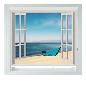 Boat Beach Window Sea View Printed Photo Black Out Roller Blinds 2 3 4 5ft