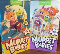 2 Muppet Babies VHS Time To Play & Let's Build (1993) Jim Henson Video Good Cond