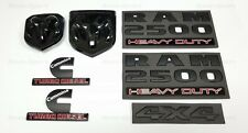 7PCS Black Dodge RAM 2500 Emblems Cummins Turbo Diesel 4X4 Grille Tailgate Badge