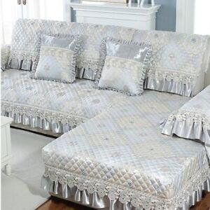 Jacquard Craft Luxury Sofa Cushion Lace Delicate Non-slip Sofa Cover Cushion