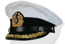 WW2 German Officer U-Boat Captain Visor Cap All Size