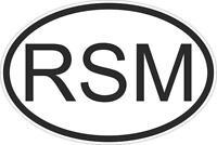Autocollant sticker drapeau oval code pays voiture moto saint marin marinais rsm