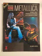 Metallica Legendary BASS Guitar Licks Tab Music Song Book Tablature with CD