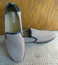 Reaction Kenneth Cole Leather Mens Center Slip On Size 10M Brown
