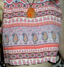 FOREVER 21 BELLY DANCE PAISLEY BOHEMIAN BOHO CROP TOP SMALL