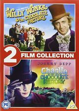 Willy Wonka / Charlie And The Chocolate Factory (Twin Pack) Dvd New/Sealed