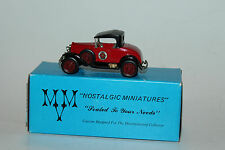 MVM NOSTALGIC MINIATURES 1931 FORD MODEL A COUPE, FIRE CHIEF, EXCELLENT, BOXED