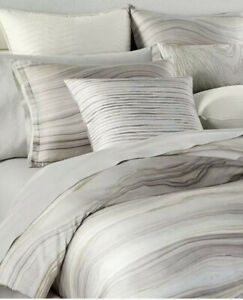 Hotel Collection Agate 100% Cotton King Duvet Cover+Two Standard Shams.