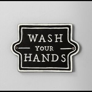Hearth and Hand with Magnolia Wash Your Hands Metal Wall Sign bathroom decor new
