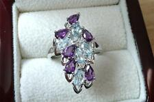 Silver Amethyst Rings Jewellery