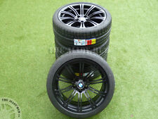 GENUINE BMW M3 E90/2/3 19INCH 220M SPORT SATIN BLACK ALLOY WHEELS+MICHELIN TYRES