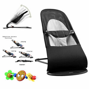 Newborn Baby Bouncer Soft Durable Infant Chair Rocking Seat Foldable+Musical Toy