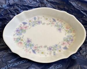 Wedgwood England Angela fine bone china small size oval trinket dish pin tray