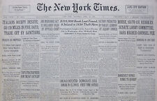 4-1936 April 16 ITALIANS OCCUPY DESSYE 120 MILES IN 5 DAYS TRADE SANCTIONS Times